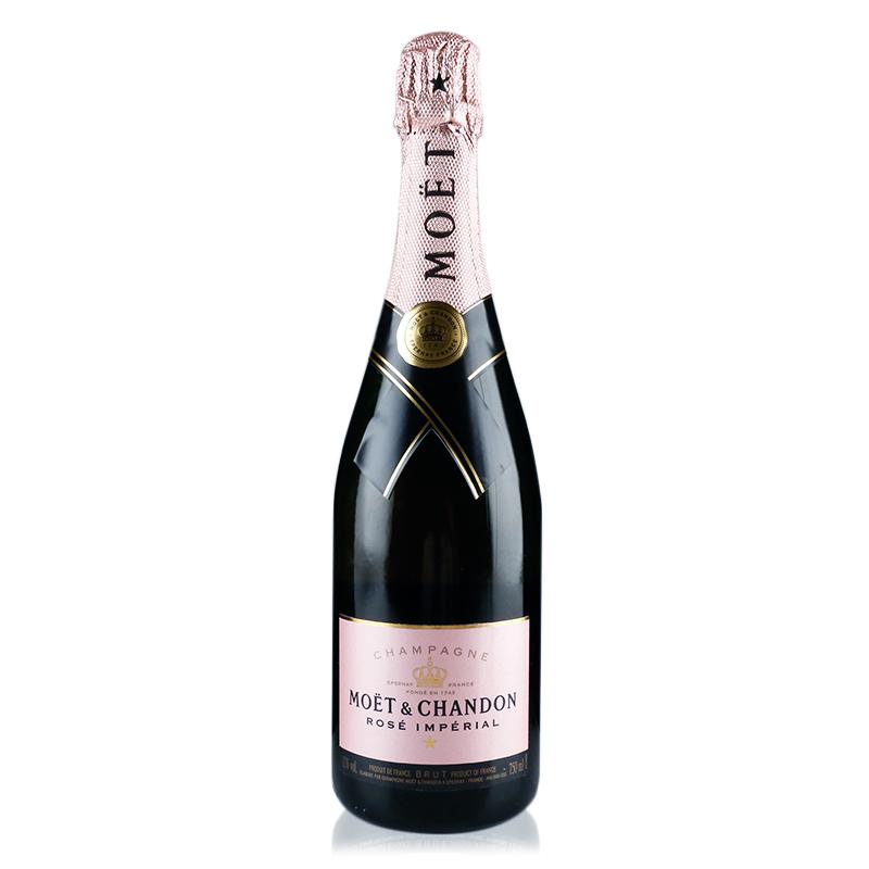 酩悦香槟粉红香槟/起泡葡萄酒 法国原瓶进口香槟 750ml 单支