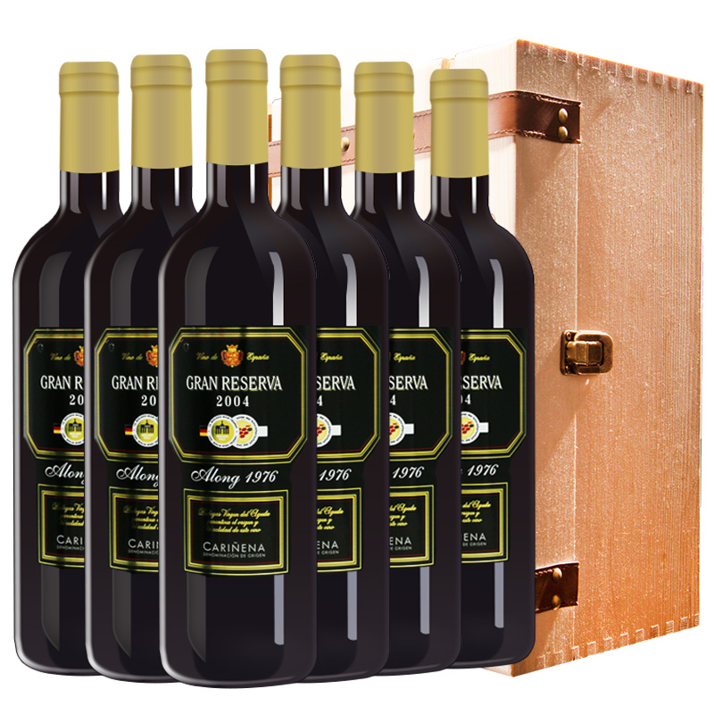 西班牙红酒(原瓶进口)阿垄堡1976陈酿干红葡萄酒750ml*6支 木箱款