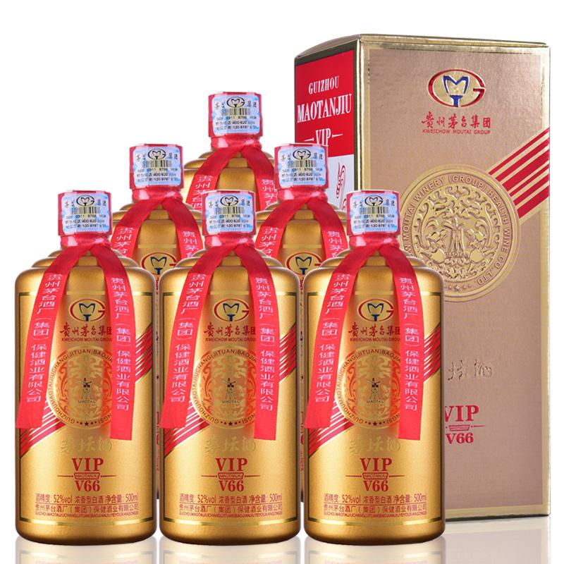 52°茅台酒厂集团保健酒业公司生产茅坛酒VIP浓香型国产白酒粮食口粮酒500m(6瓶装)