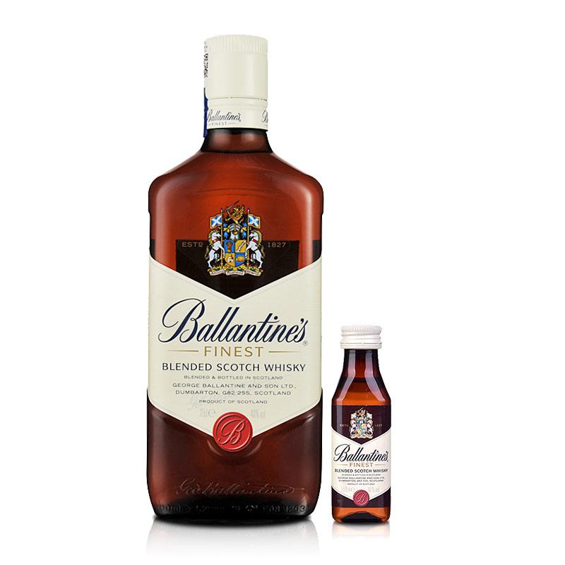 40°英国百龄坛特醇苏格兰威士忌700ml+百龄坛小酒版50ml品酒礼包