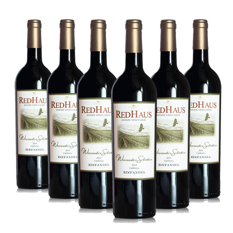 美国豪诗加州仙粉黛红葡萄酒 750ML (6瓶装)