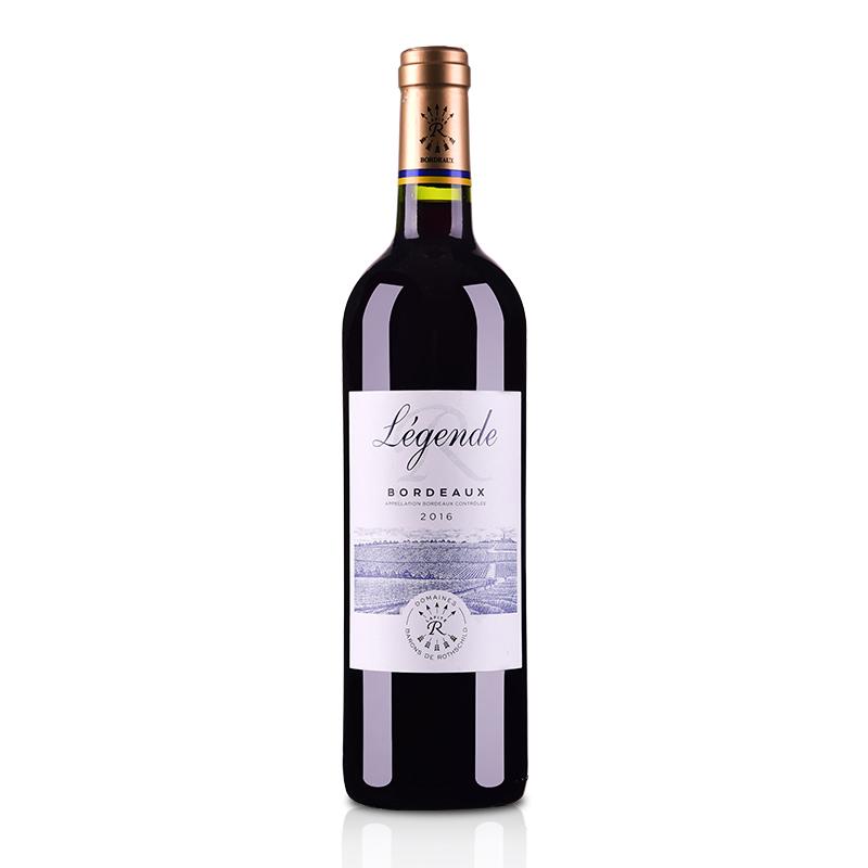 法国拉菲传奇2016波尔多法定产区红葡萄酒750ml