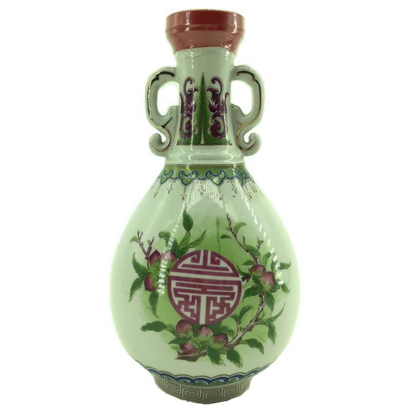 58度 寿酒集锦 彩绘寿桃双耳胆瓶 1970年台湾陈年老酒 金门高粱(无盒)