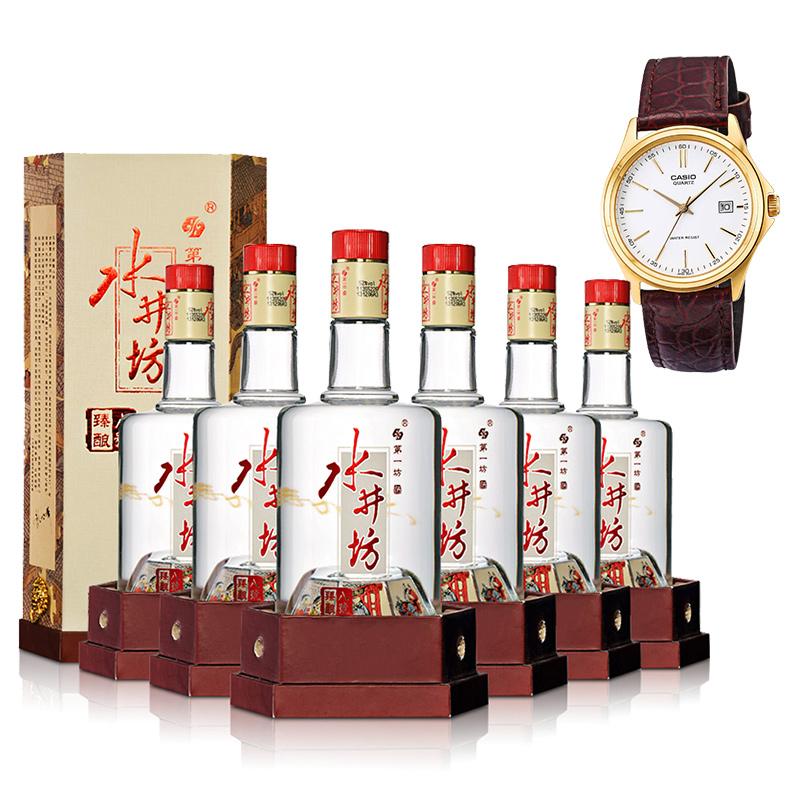 52°水井坊臻酿八号500ml(6瓶装)+卡西欧石英男表