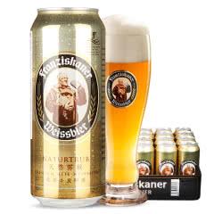德国进口啤酒慕尼黑范佳乐(教士)小麦白啤酒500ML(24听装)