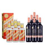 53°茅台迎宾酒(新款)500ml(6瓶装)+智利干露.克拉克干红葡萄酒750ml(6瓶装)