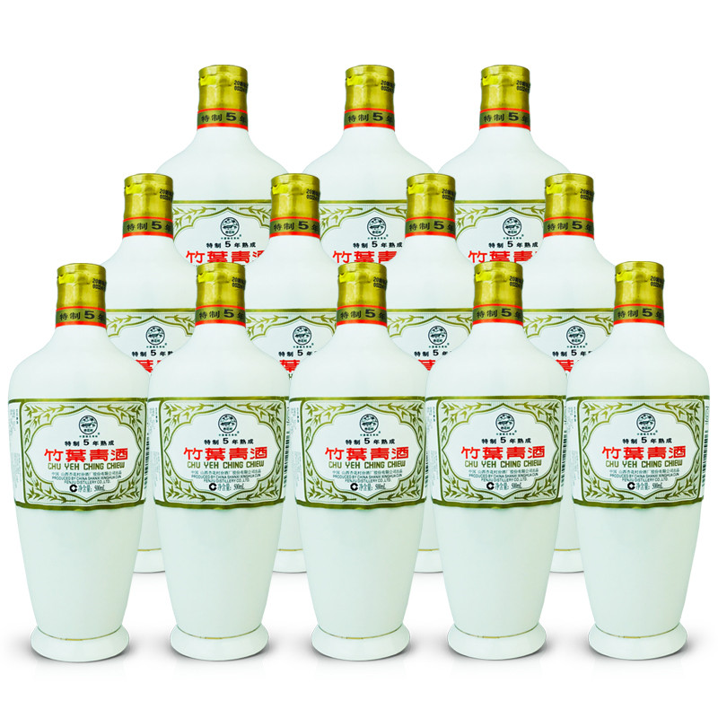 45º瓷瓶竹叶青酒五年熟成500ml (12瓶装) 2008年