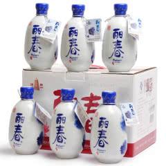 绍兴黄酒塔牌丽春酒 八年陈花雕糯米老酒半干型375ml*6瓶整箱礼盒