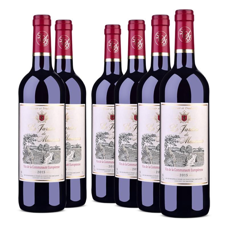 法国原瓶进口红酒 莫奈庄园干红葡萄酒750ml *6 整箱装
