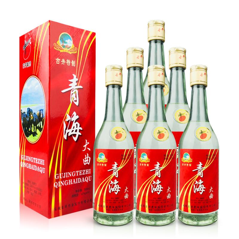 50°古井特制青海大曲500ml (6瓶装)1999-2000年随机发货