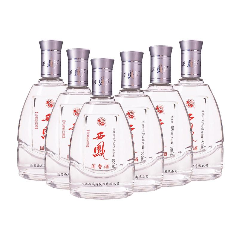 45°西凤国香酒2007-2008年500ml*6瓶