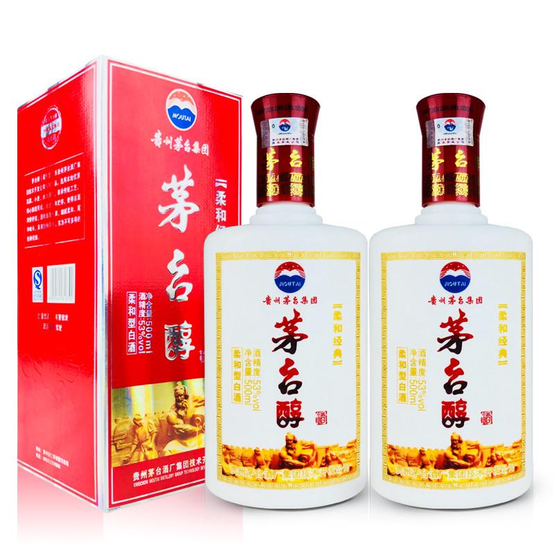 53º茅台醇鸿福酒500ml (2瓶装)2012年
