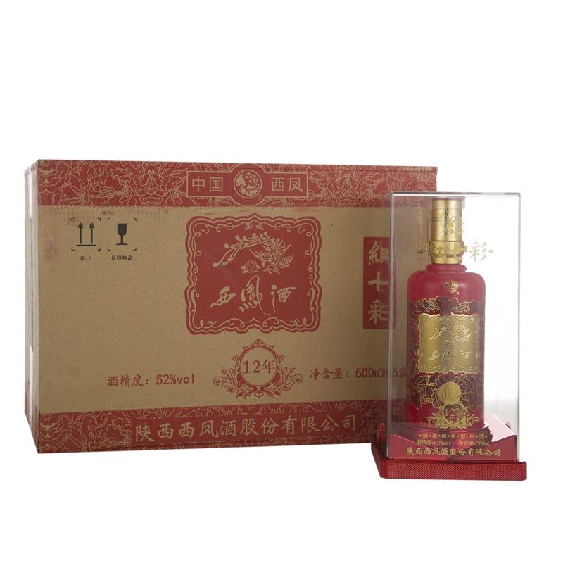 52°西凤酒红七彩(12年)500ml(6瓶装)