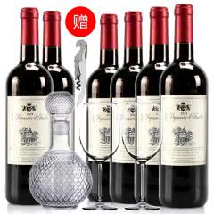 法国红酒整箱法国(原瓶进口)天使爱美丽半甜红葡萄酒750ml*6支装