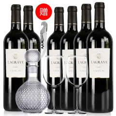 法国红酒整箱法国(原瓶进口)葛拉芙特酿干红葡萄酒750ml*6支装