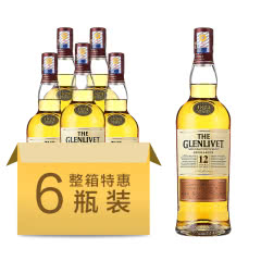 40°【6支装】格兰威特12年单一麦芽威士忌700mL*6