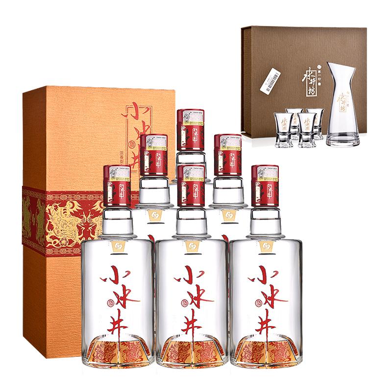 52°水井坊小水井500ml(6瓶装)+水井坊玻晶酒具