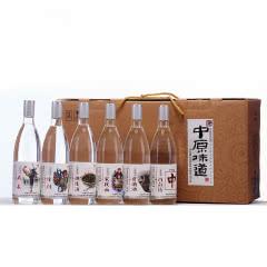 42度富平春中原味道系列浓香型白酒475ml(6瓶装)