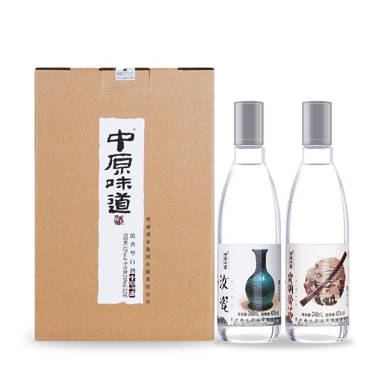 42°中原味道浓香型白酒248ml(4瓶装)