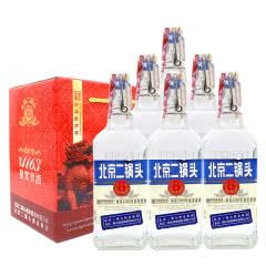 永丰牌北京二锅头清香型纯粮酒(出口型小方瓶)蓝标42度(礼盒装)500ml*6瓶