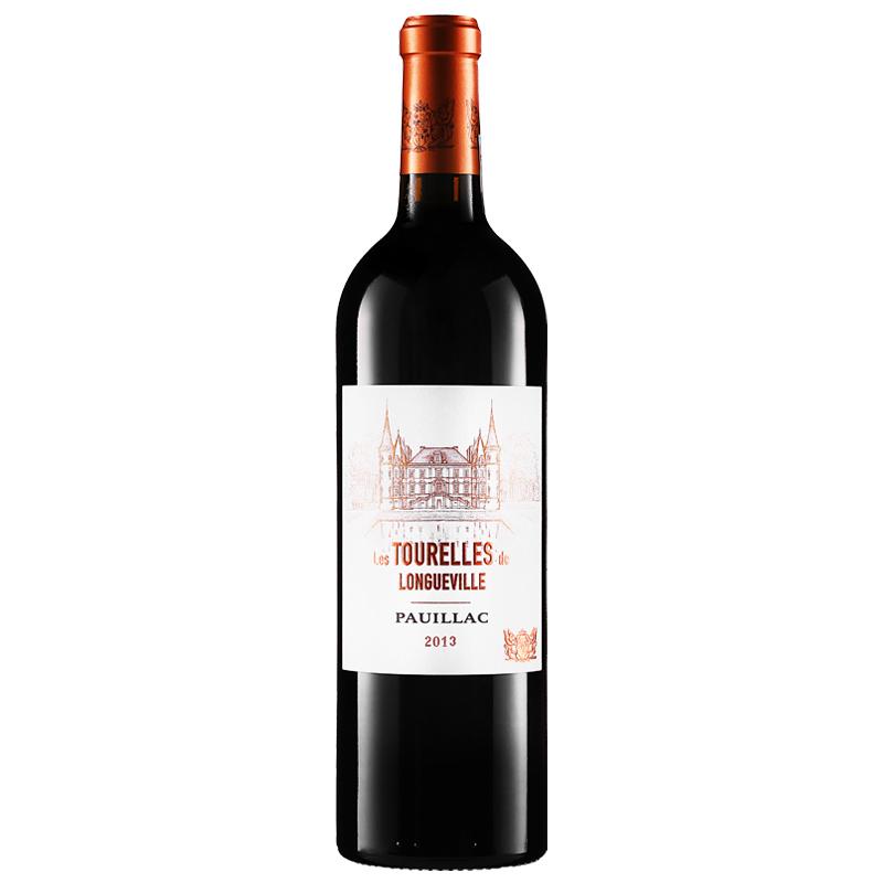 (列级庄·名庄·副牌)法国红酒波亚克碧尚男爵庄园男爵古堡副牌2013干红葡萄酒750ml