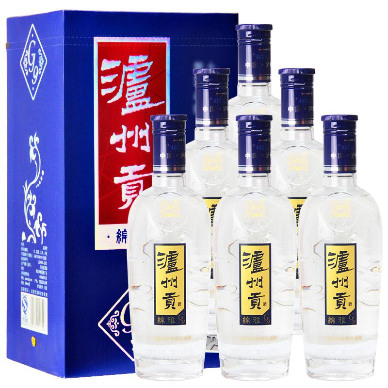 46°泸州老窖股份出品 泸州贡绵雅G9 浓香型白酒整箱装500ml*6