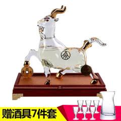 52°五粮液集团出品羊年如意750ml十二生肖之生肖羊礼盒属相收藏酒
