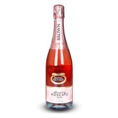 澳大利亚原瓶原装进口 布琅布朗兄弟葡萄酒 750ml 布琅兄弟莫斯卡托桃红起泡葡萄酒