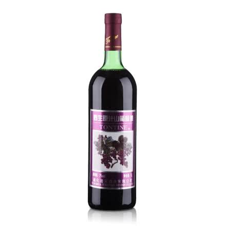 中国通天野生原汁山葡萄酒甜红酒1000ml