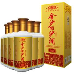 53°贵州金沙回沙酒vip(2017年)酱香型白酒 500ml*6瓶整箱装【京东配送】
