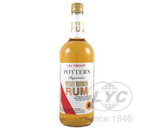 Potter's波特151朗姆酒百加得一样度数75.5度烈酒鸡尾酒