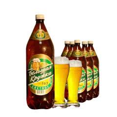 俄罗斯原装进口波罗的海大杯子淡爽清淡啤酒大桶装黄啤酒1.42L