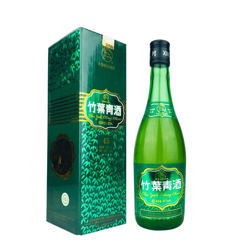 45º竹叶青酒盒装475ml(2007年)