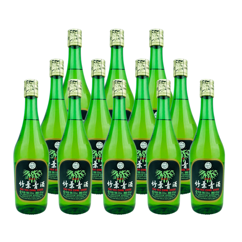 老酒 45º竹叶青酒500ml (12瓶装) 2012年