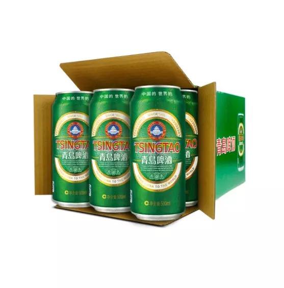 青岛啤酒(Tsingtao)经典10度500ml*12听 大罐整箱装