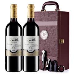 【中级庄】法国原瓶进口红酒史嘉隆庄园干红葡萄酒红酒礼盒装750ml*2