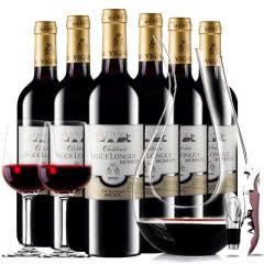 【中级庄】法国原瓶进口红酒史嘉隆庄园干红葡萄酒红酒整箱醒酒器装750ml*6