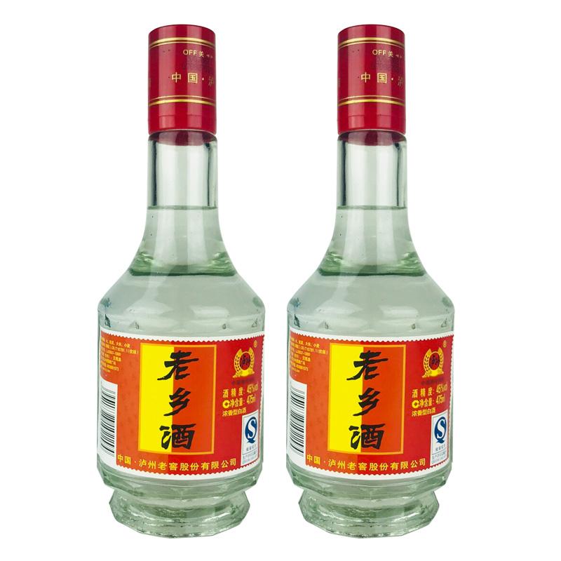 老酒 45°泸州老窖公司 老乡酒475ml(2瓶装)2007年