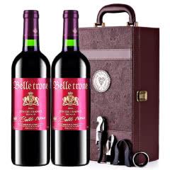 法国进口红酒卡斯特贝桐副牌干红葡萄酒红酒礼盒装750ml*2