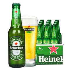 进口喜力啤酒海尼根啤酒拉格黄啤酒330ml(24瓶装)