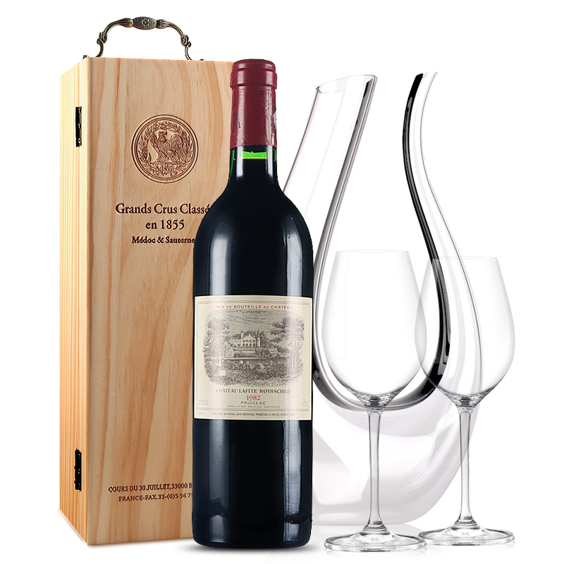 拉菲古堡干红葡萄酒 大拉菲 法国原瓶进口红酒  1982年 正牌  单支  750ml
