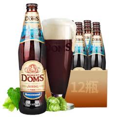 乌克兰DOMS多玛斯进口啤酒多玛斯大麦黑啤酒500ml(12瓶)