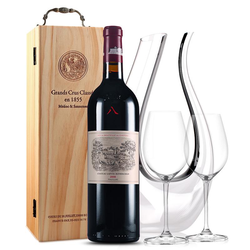 拉菲古堡干红葡萄酒 大拉菲 法国原瓶进口红酒 一级庄 2008年  正牌 单支 750ml