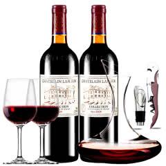 拉斐庄园2009珍酿原酒进口红酒典藏干红葡萄酒 红酒2支醒酒器装750ml*2