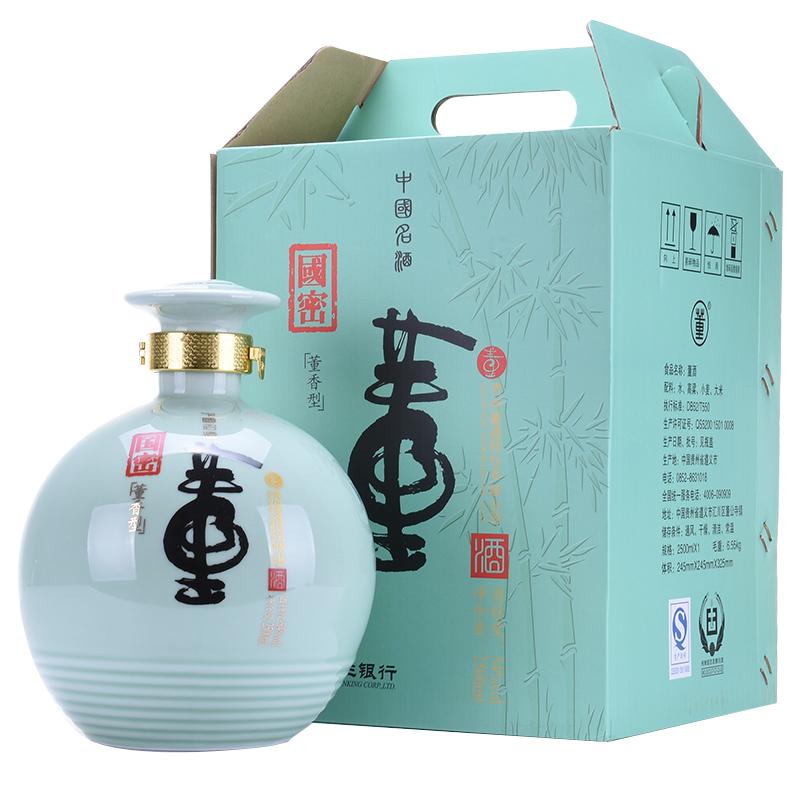 【老酒收藏酒】54°董酒 国密1坛 2.5l  (2012年)