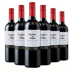 智利原瓶进口红酒 干露红魔鬼赤霞珠(卡本妮苏维翁)红葡萄酒750ml (6瓶装)