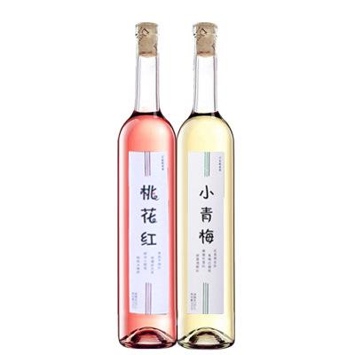 桃花红小青梅酒375ml*2组合装  低度甜红酒果酒清酒甜酒