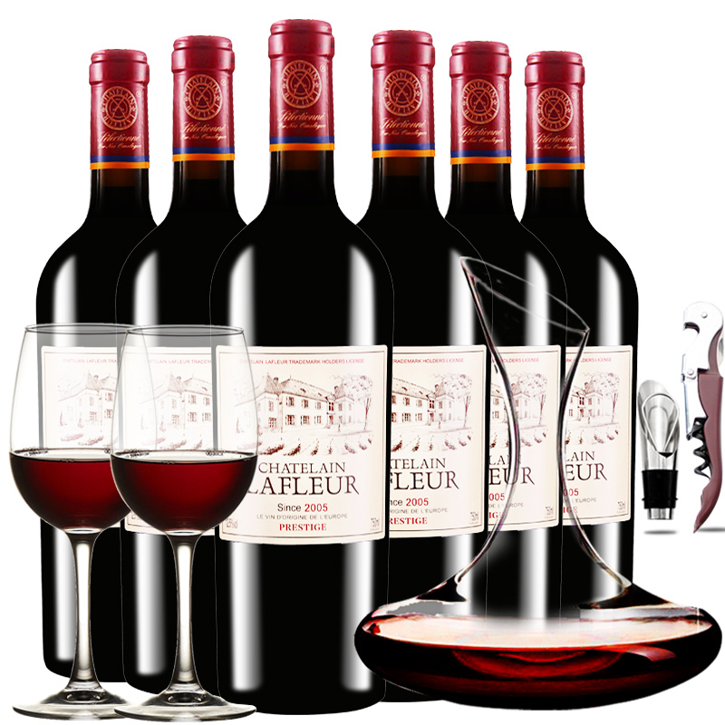 法国拉斐庄园2005窖藏干红葡萄酒750ML*6