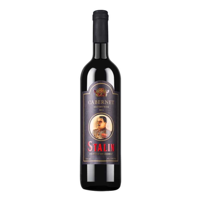 格鲁吉亚原瓶进口斯大林赤霞珠干红葡萄酒750ml