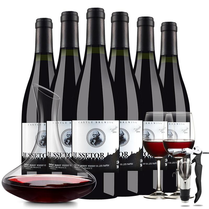 法国红酒 法国原酒进口红酒 杜赛托城堡珍酿干红葡萄酒750ml*6瓶